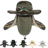 Outdoor Fishing Sun Cap Climbing Bucket Hat Unisex Brim Sun Block Quick Drying