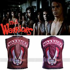 THE WARRIORS REAL LEATHER VEST JACKET + Free Shipping - All size available