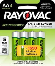 Rayovac AA Precharge 1350mAh NiMH Rechargeable Batteries 4 Pack