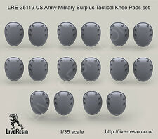 Live Resin 1:35 US Army Military Surplus Tactical Knee Pads Set LRE35119*