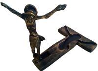 Standing Cross Crucifix Risen Jesus Christ Catholic Statue Medjugorje 3.5 inch