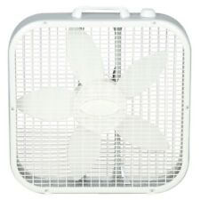 Box Window Fan 20 in. 3-Speed Quiet Compact Portable Energy Efficient Floor Fans