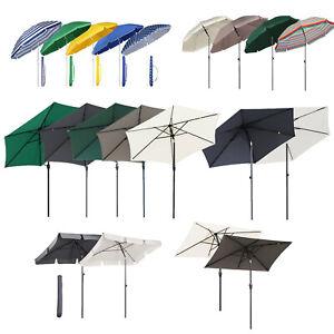 Garden Parasol Sun Shade Outdoor Patio Umbrella Canopy UV Protects Tilting