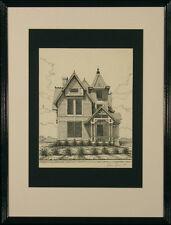 Thom Greene Pencil Signed Print: Victorian Turret House