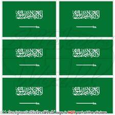 """Arabia Saudita bandiera Arabo 40 mm (1.6"""") Mobile Cellulare Mini Adesivi, Decalcomanie x6"""