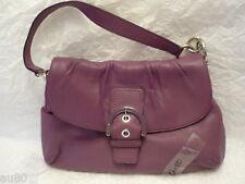 COACH Soho Leather Flap Buckle  BERRY/purple 17217   NWT+receipt