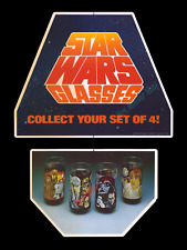 1977 STAR WARS Coca-Cola BURGER KING ☆ STORE DISPLAY MOVIE POSTER GLASSES MOBILE