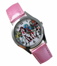 Monster High Group Pose Genuine Pink Leather Band Wrist Watch