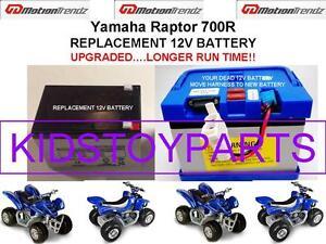 Yamaha Raptor 700R OEM REPLACEMENT 12V BATTERY LONGER RUN TIME THAN ORIGINAL!!!