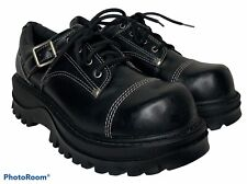 Rare! Vtg 90s Lei Womens 7.5 Black Chunky Platform Lug Sole Club Shoes Y2K 8