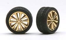Pegasus 1252 x 1/24-1/25  Bellas Gold Rims w/Tires (4)