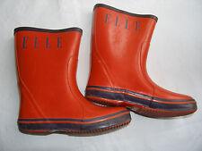 Stivali galoches n. 29 per la pioggia rossi con la scritta ELLE