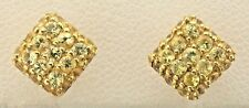 Vintage 18K Yellow Gold Yellow Sapphire Stud Earrings