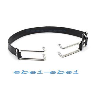 Quality Leather Belt Steel Mouth hook Mouth Open Restraint bondage Fetish Gag