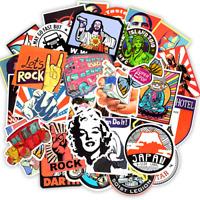 50 Style Fashion Stickerbomb Retrostickern Aufkleber Sticker Mix Decals Rock