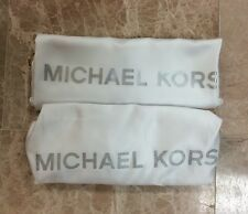 2 New Michael Kors MK Drawstring Dust Bag Purse Handbag 18 X 18 White