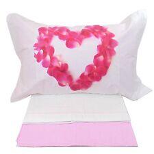 Completo letto matrimoniale lenzuola 2 piazze digitale in COTONE imberti petali
