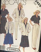 Vtg McCall's The Villager pattern 2425 Jacket, Shirt, Skirt sz 12 bust 34 uncut