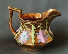 Copper Lustre Ware Jug - Hand Painted