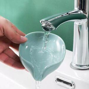 Soap Box Drain Soap Holder Box Bathroom Shower Soap Holder Leaf Shape