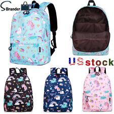 CIKER Brand Girls Cartoon Rainbow Unicorn Backpack Waterproof School Laptop Bags