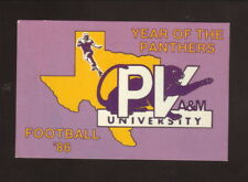 Prairie View A&M Panthers--1986 Football Pocket Schedule--Henry Wagner