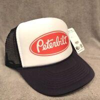 Peterbilt Semi Truck Hat Vintage Style Trucker Mesh Back Snapback Cap! Navy Blue