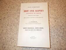 1920.Traité élémentaire droit civil egyptien.Egypte.Suretés.Grandmoulin