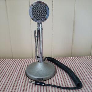 Vintage Astatic D-104 Lollipop Ham CB Radio Microphone with Stand