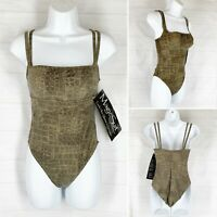 Miraclesuit Magic Suit 10 Swimsuit One Piece Olive Green Tummy Control NEW NWT