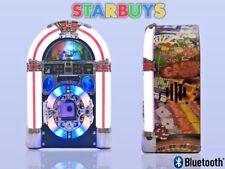 Mini Jukebox CD Player Radio Bluetooth Speaker MP3 LED Flashing Lights Retro