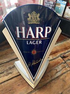 Vintage Harp Lager Bar Advertising Font Breweriana Man Cave Pub