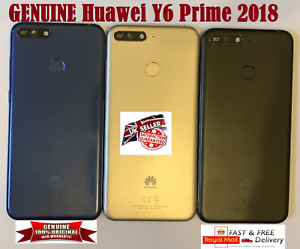Genuine Huawei Y6 Prime 2018 Battery Back Cover Rear Scanner Flex Camera Lens UK
