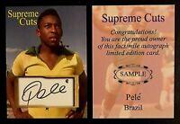 Pele Soccer Legend Supreme Cuts Brazil Soccer Sample Card