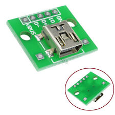 2PCS Power Supply Mini USB to DIP Adapter Converter for 2.54mm PCB Board DIY