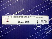 Original Mercedes Motor-Aufkleber für Motor M111 im W124 E200 E220