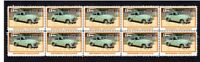 FJ HOLDEN, MOTOR EXCELLENCE STRIP OF 10 MINT VIGNETTE STAMPS 1
