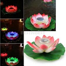 Multi-Couleur Solaire LED luminaire Lampe Lotus Fleur Flottant Pr Cour Lac Fete