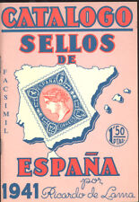 CATALOGO SELLOS DE ESPAÑA DE 1941 RICARDO DE LAMA CATALOG SPAIN STAMPS   TC11421