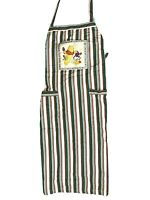 Vintage 90s Walt Disney World Winnie the Pooh Apron Cooking RARE Cotton Striped