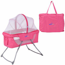 Lightweight Foldable Baby Bassinet Rocking Bed Mosquito Net Carrying Bag Travel