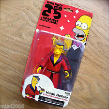 THE SIMPSONS 25 Greatest HUGH HEFNER Guest Stars Series 1 Action Figure NECA 5""