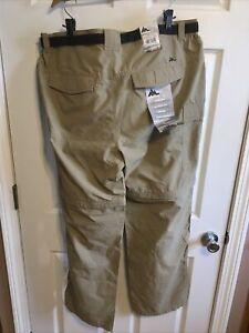 Mountain Club Mens Khaki Convertible Pants Shorts With Belt Size 42x32 50 UPF