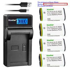 Kastar Battery LCD Charger for Kodak KLIC-8000 & Kodak Z1015 IS Kodak Z1085 IS