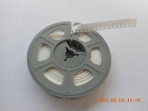NEW  KODAK 8mm REGULAR 8 WHITE MOVIE LEADER on 50' Reel ACETATE ( White/Grey )