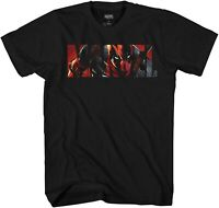 Deadpool Logo Fill Funny Avengers X-Men Adult Tee Graphic T-shirt for Men Tshirt