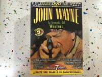 JOHN WAYNE DVD LA LEYENDA DEL WESTERN VOL II 5 PELICULAS 5 DVD NEW SEALED ESPAÑO