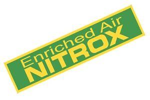 "Large Nitrox Only Tank Band Warning Tank Sticker for Scuba Tanks 23"""