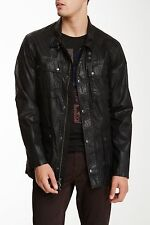 John Varvatos Star USA Mens Jacket Coat Sz L 4 Pockets Coated Jacket O918Q1B