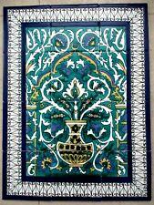 "18"" x 24 Ceramic tile art Mosaic wall mural Arabesque Antique floral BACKSPLASH"